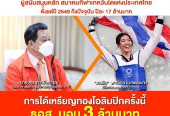 "<span>#เดย์ไทม์นิวส์ออนไลน์  ธอส. มอบ 3 ล้านบาท ยินดี ""น้องเทนนิส"" คว้าเหรียญทองแรกของไทย ในโอลิมปิกเกมส์ โตเกียว 2020</span>"